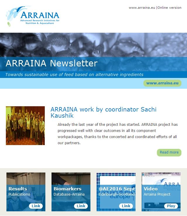 ARRAINA 2nd newsletter snapshot 18.07.16